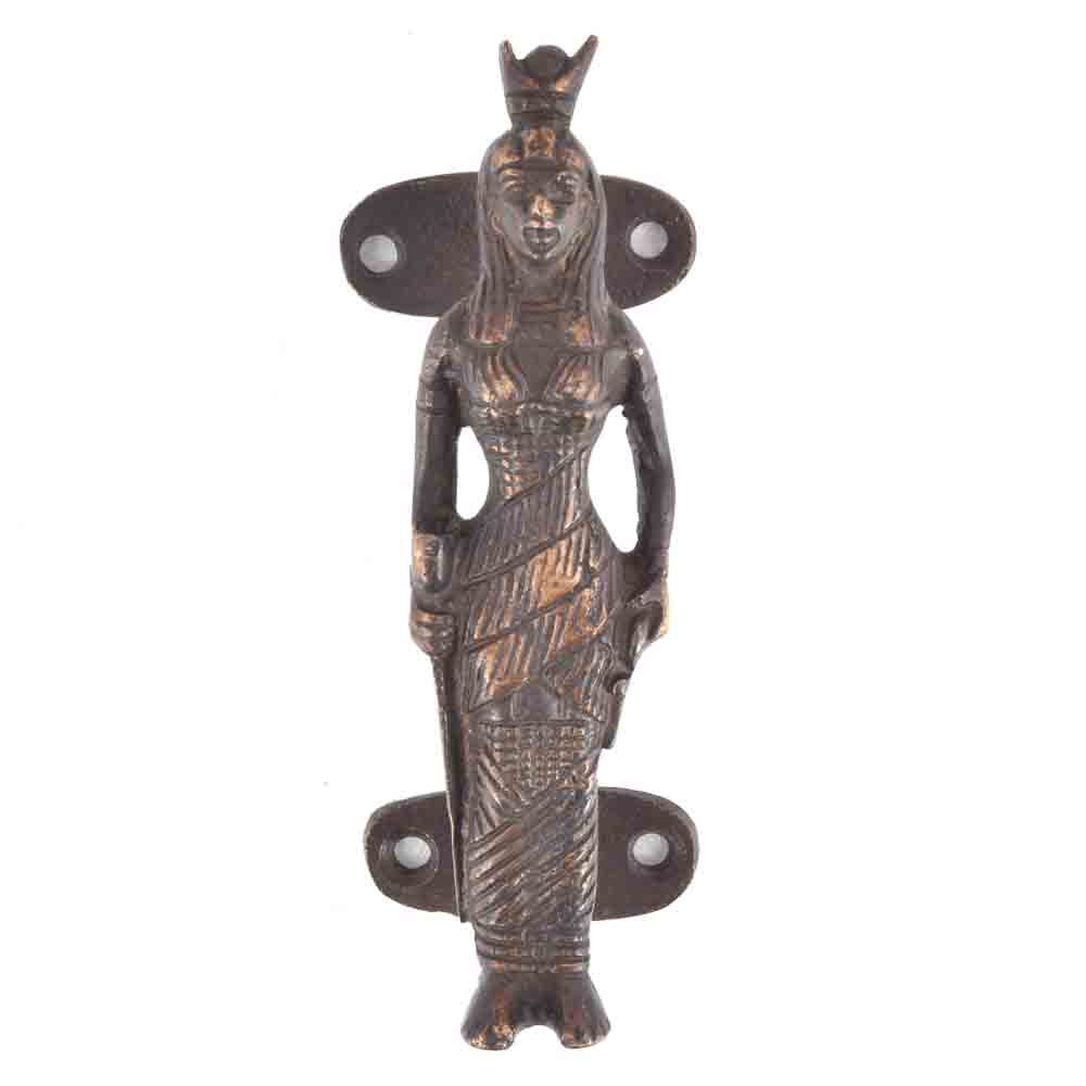 Bronze Tribal Lady Door Handle