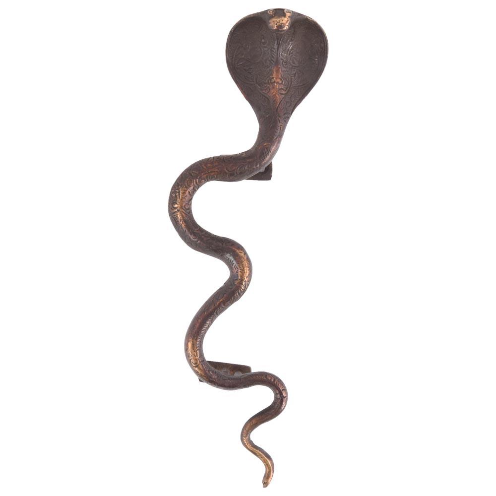 Old Bronze Snake Cobra Door Handle