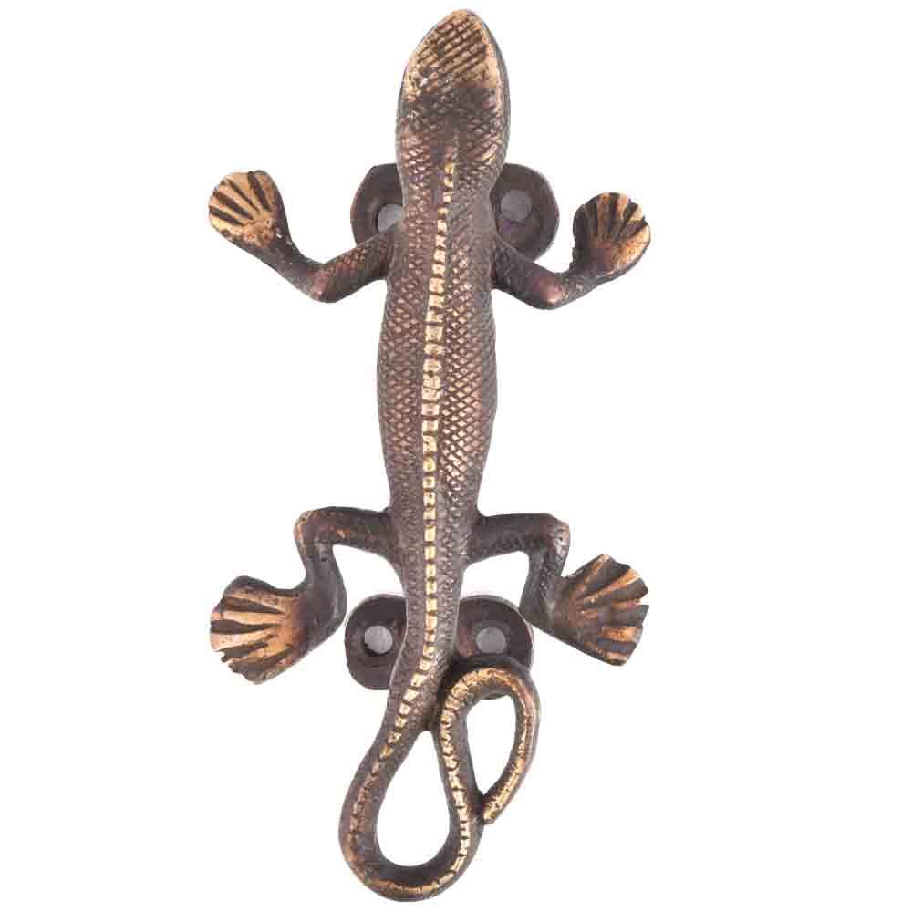 Hand Made Brass Lizard Door Handle