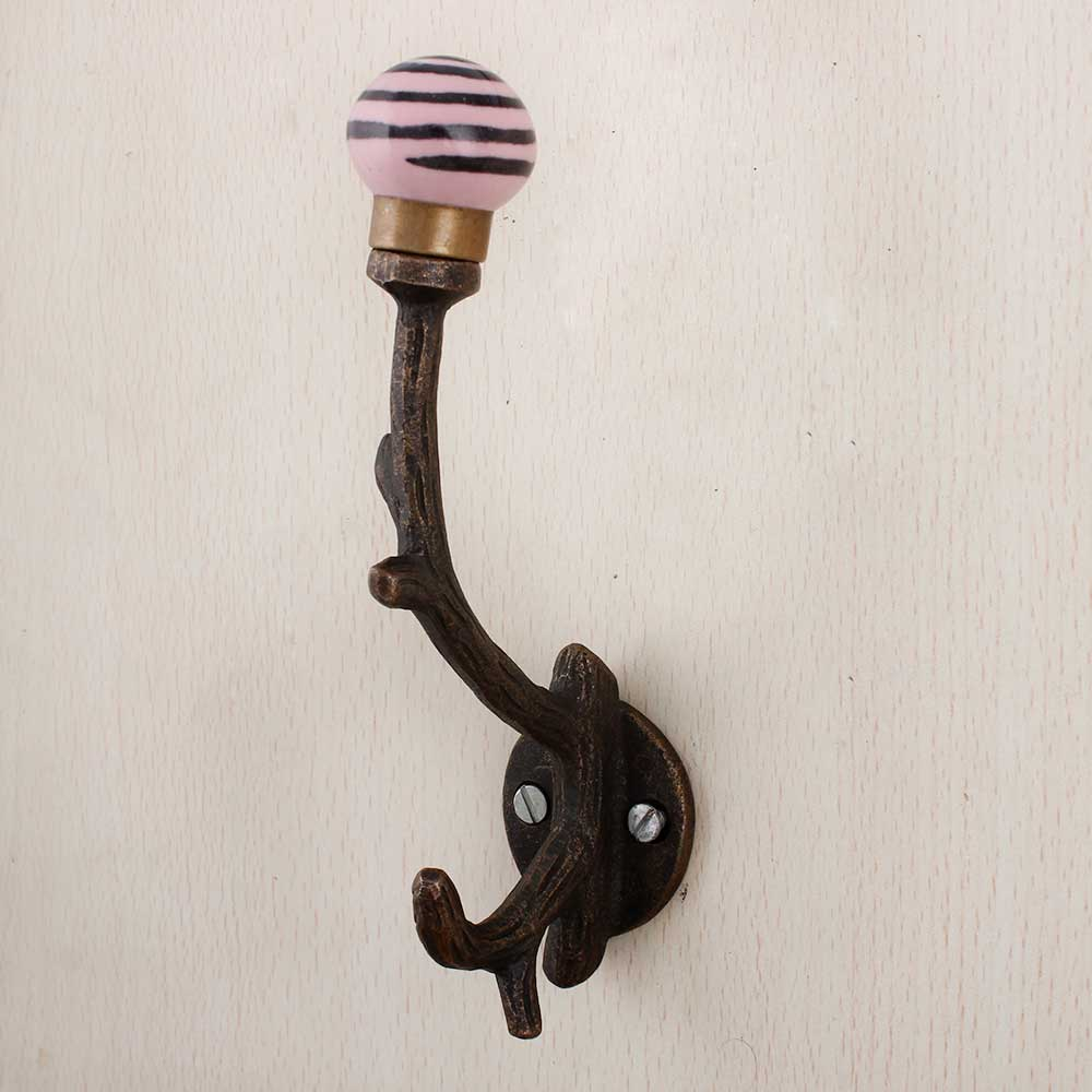 Pink Black Strip Tree Hooks-EHG-79