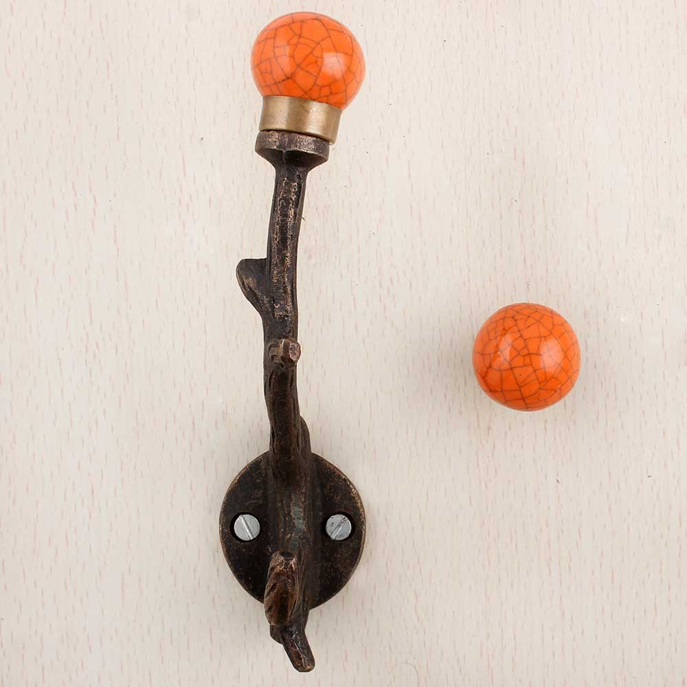 Orange Crackle Tree Hooks-EHG-84