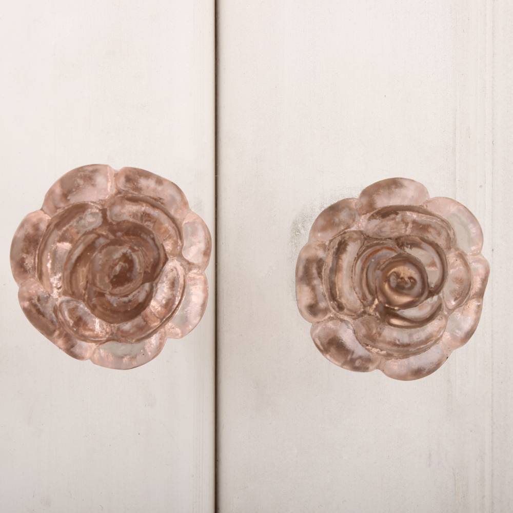 Light Pink Rose Dresser Knob