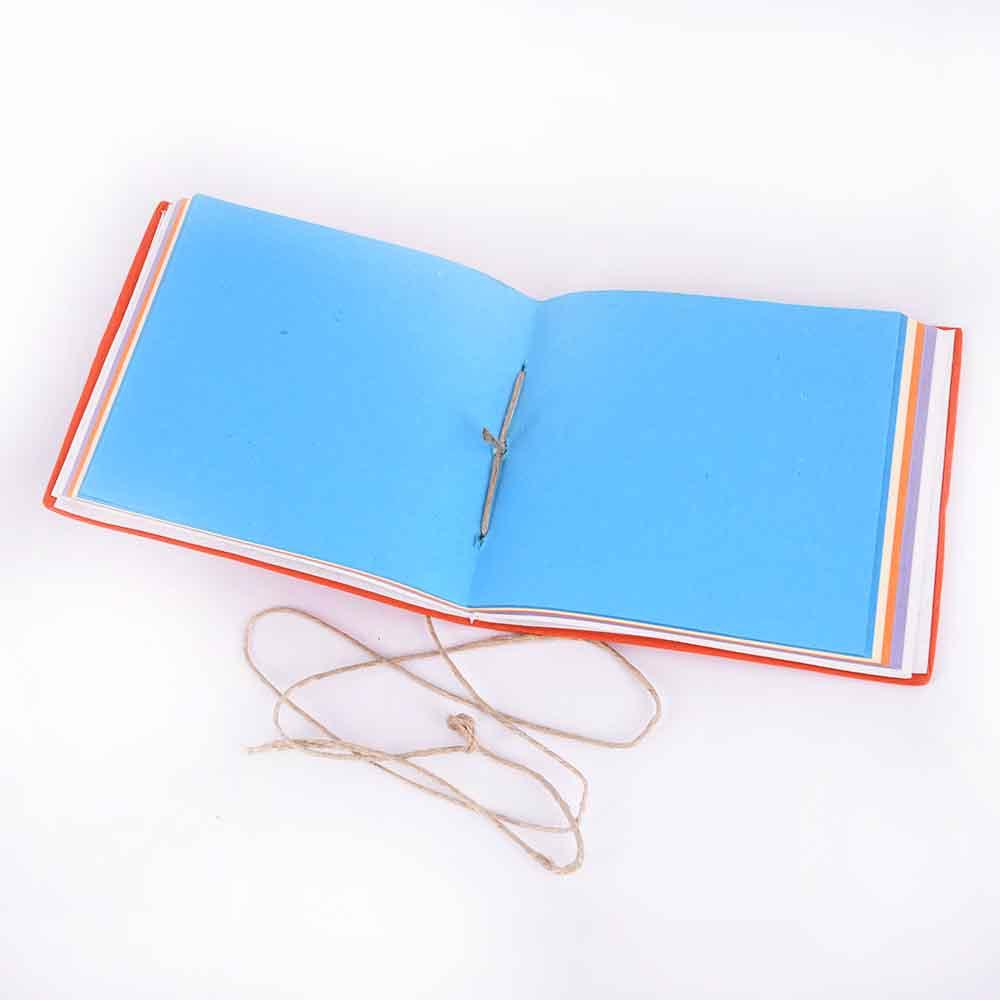 Orange with Blue Colour Designer Diaries/ Notebook