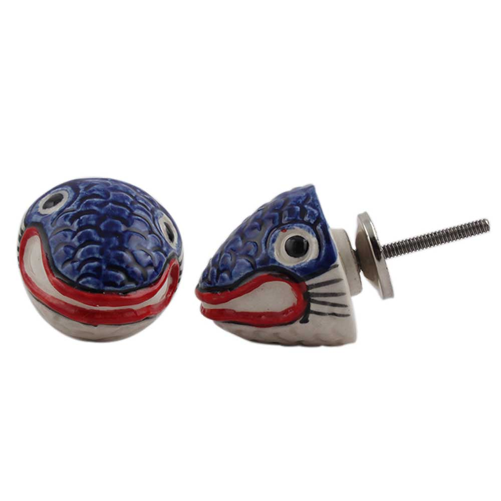 Fish Ceramic Fauna Knob