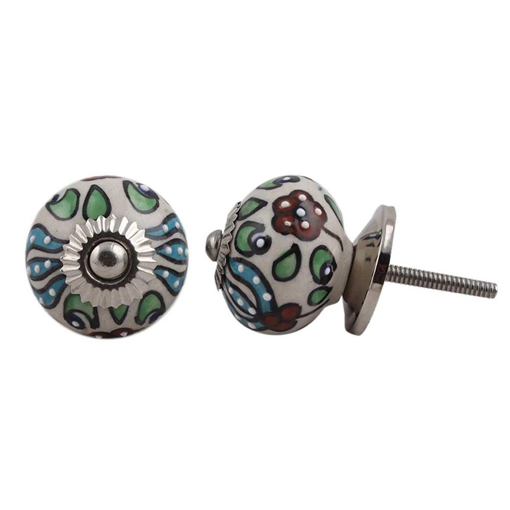 Trishul Design Ceramic Knob
