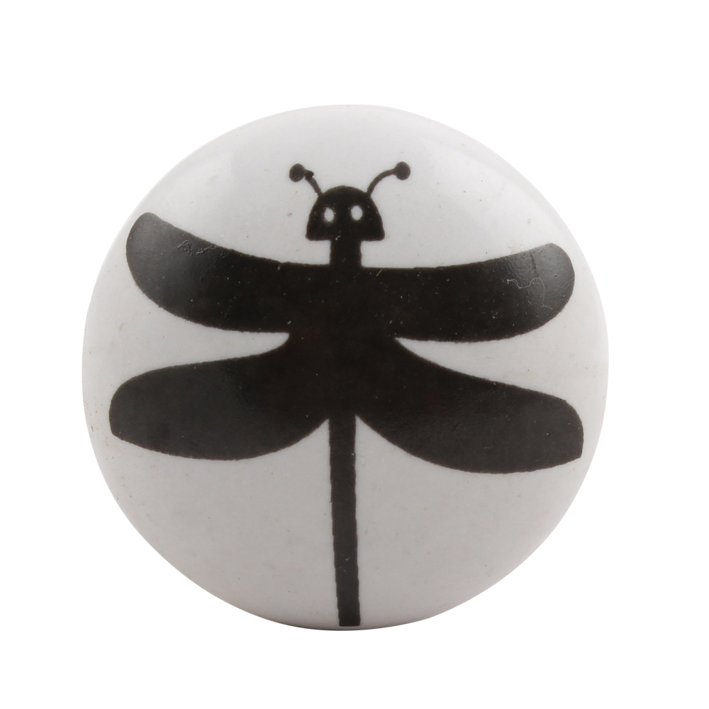 Black Butterfly Flat Ceramic Wine Stopper