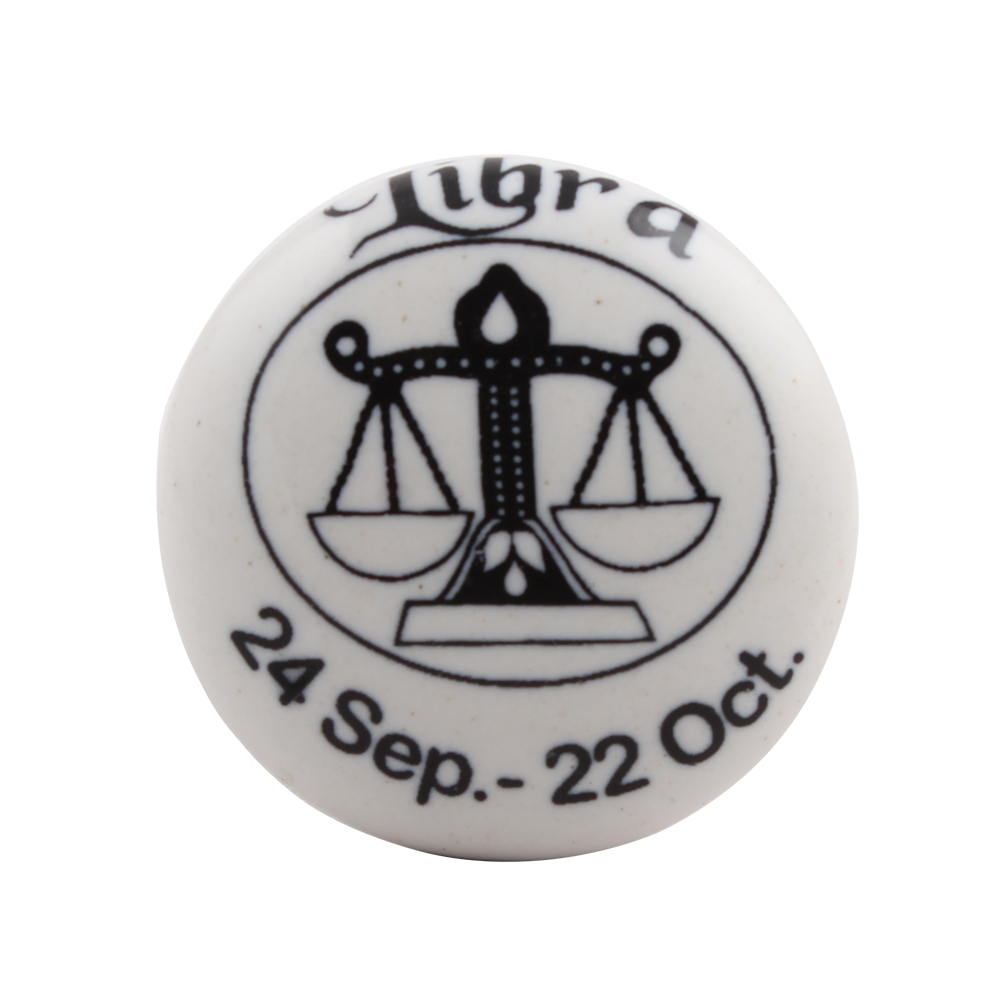 Libra Flat Ceramic Wine Stopper