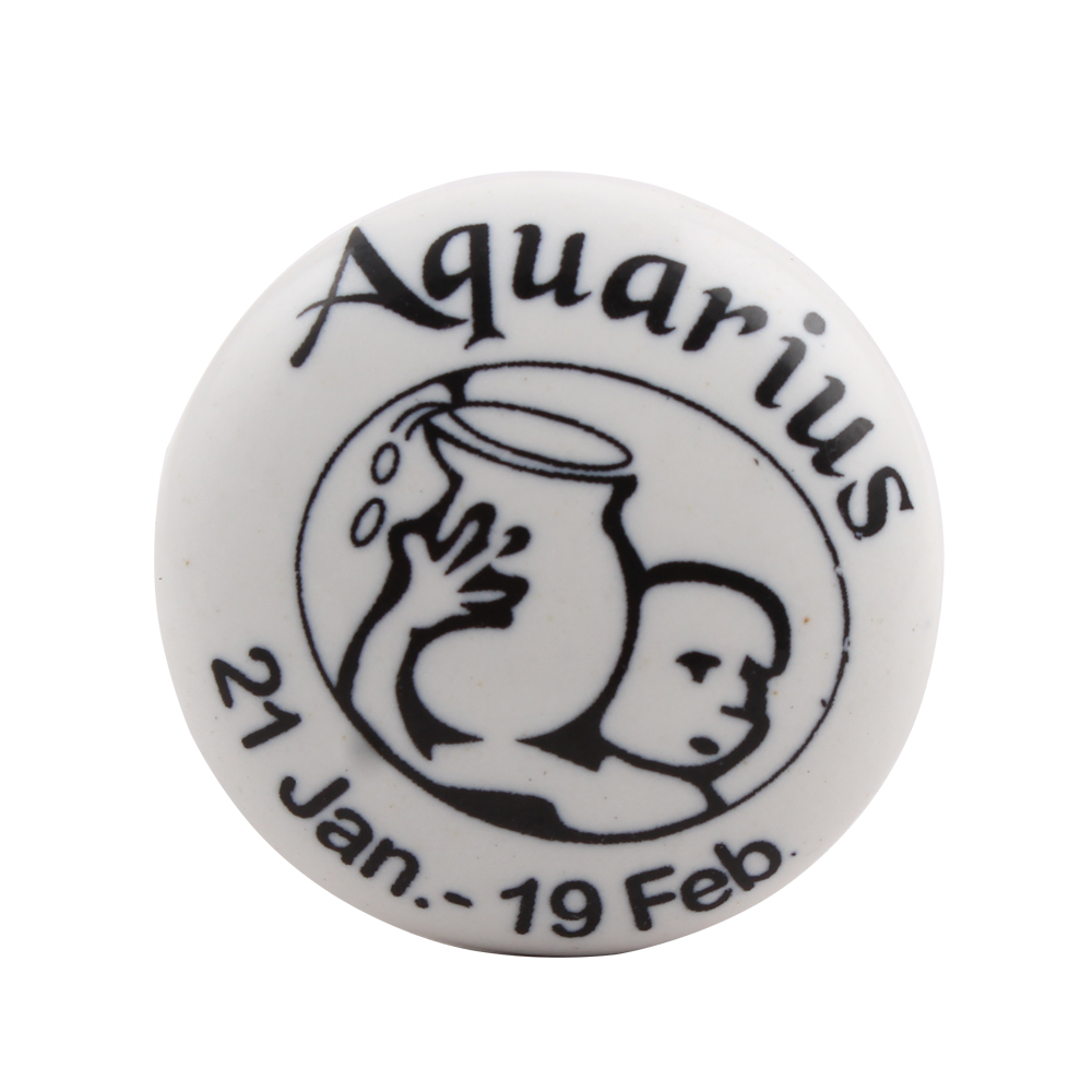 Aquarius Flat Ceramic Wine Stopper