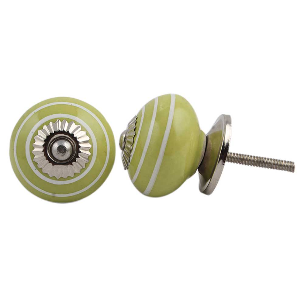 Lime Green White Knob