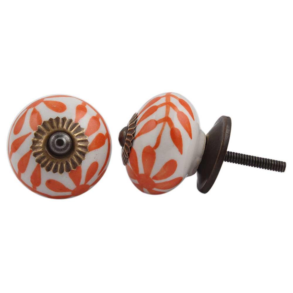 Orange Flower Knob