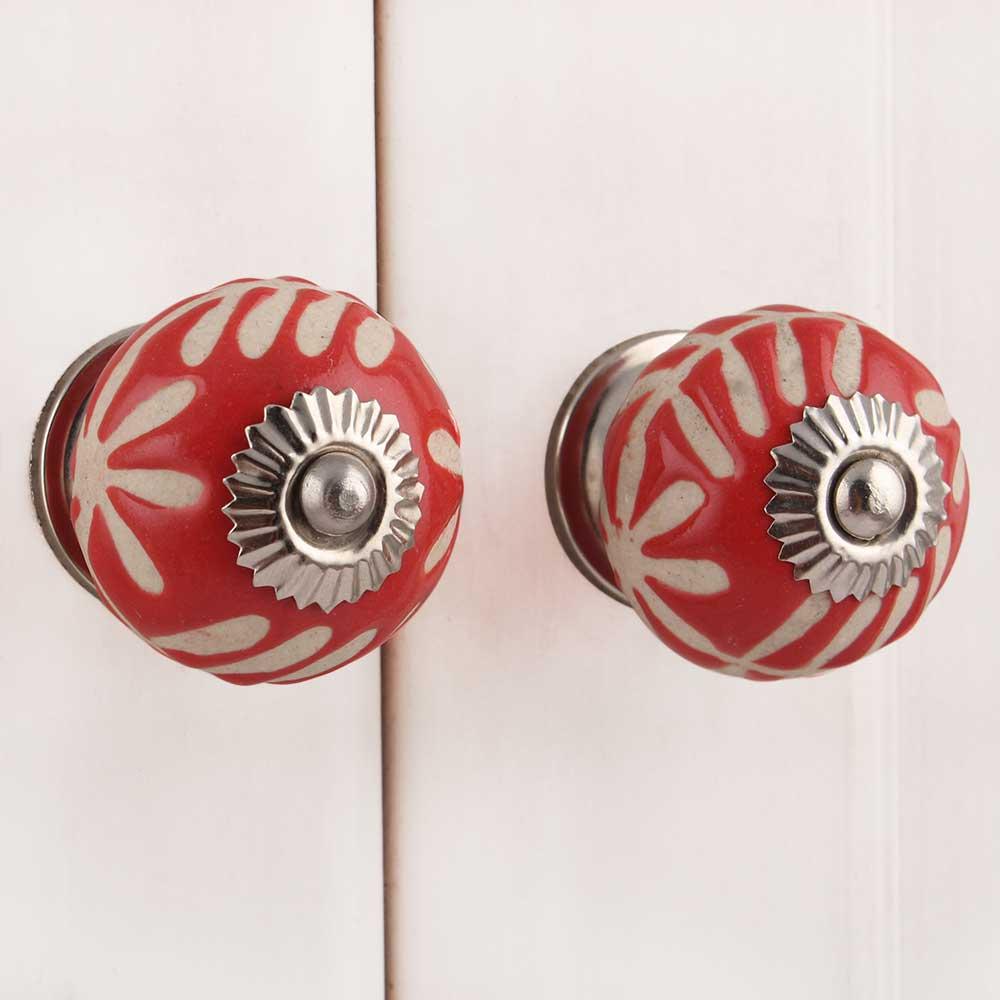 Red Etched Ceramic Knob-02