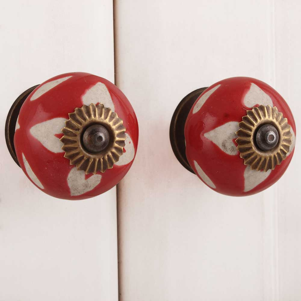 Red Etched Ceramic Knob-03