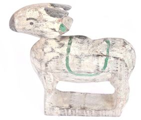 Rustic and Countryside Hand Painted White Wooden Cow