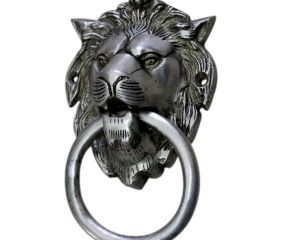 Silver Lion Door Knocker