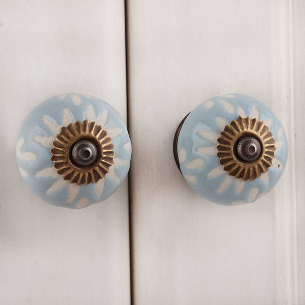 Grey Etched Ceramic Knob 38