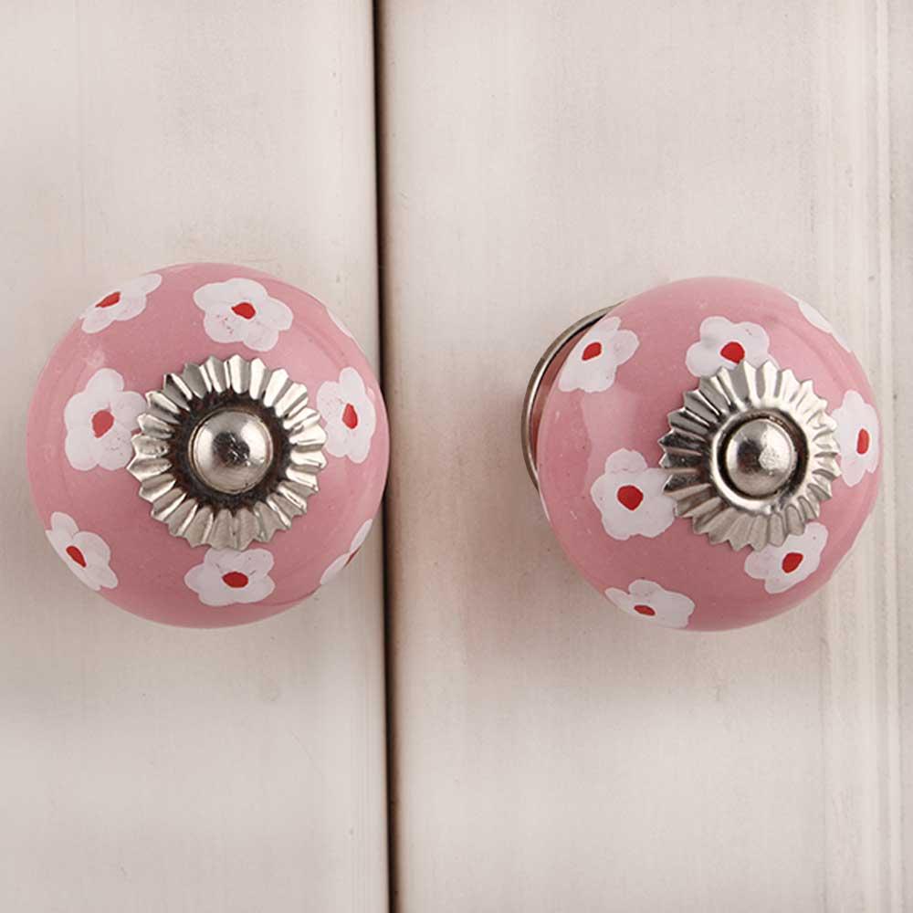Pink Tiny Flower Knob