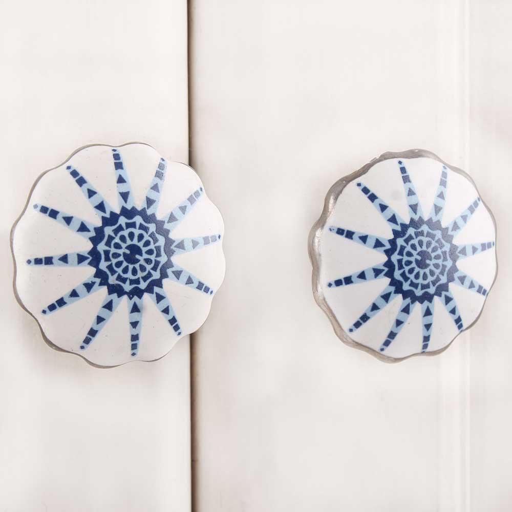 Lily Flower Ceramic Knob