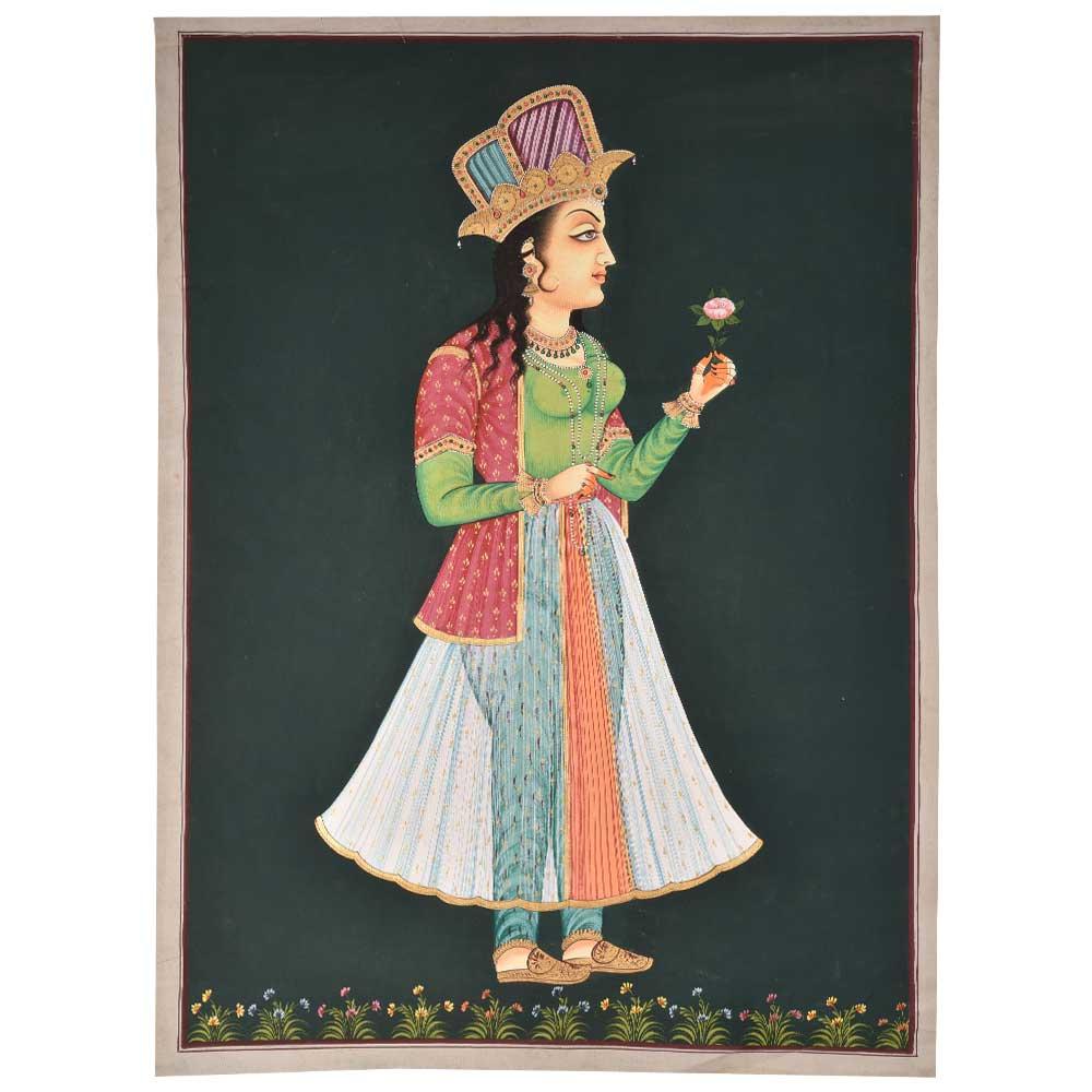 Noor Jahan historical painting 47 X 36