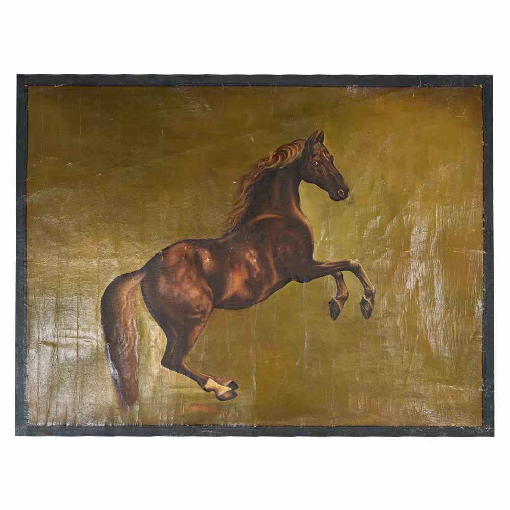 Old hand made painting of Indian marwari horse 34.5 X 47