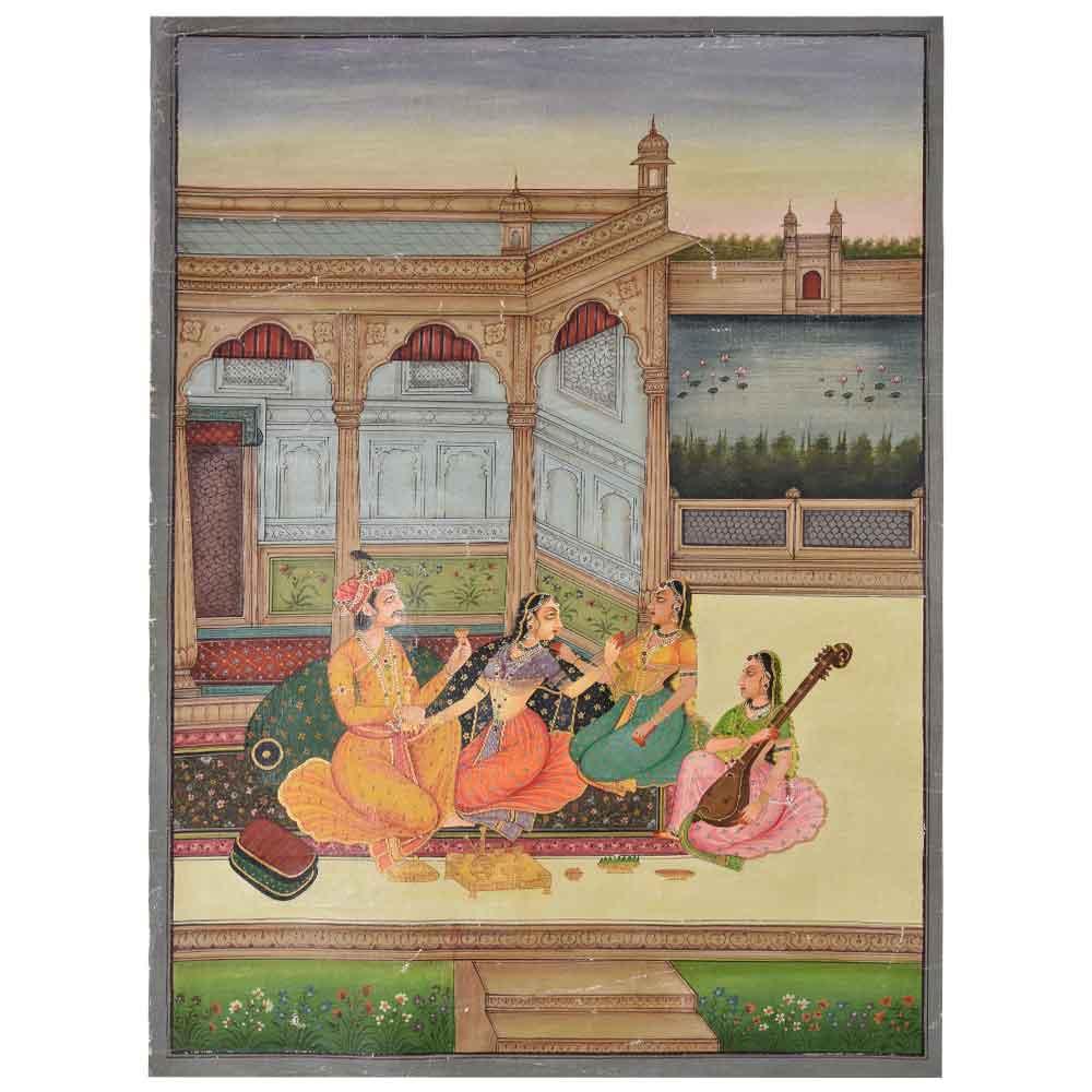 Painting of narratives of mughal era 47.5 X 35