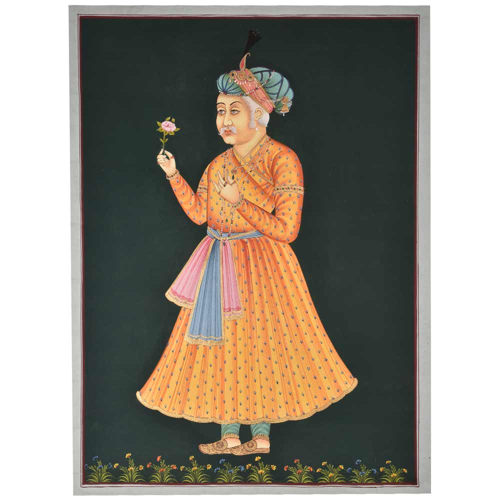 Mughal style portraits of emperor shahjahan 48 X 35.5