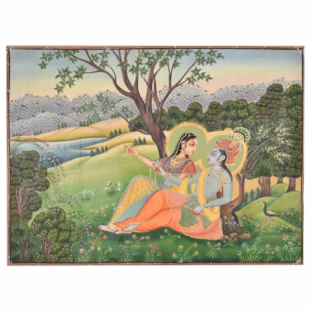 Krishnagarh style of painting was basically a fushion of Mughal and regional style 34 X 45.5
