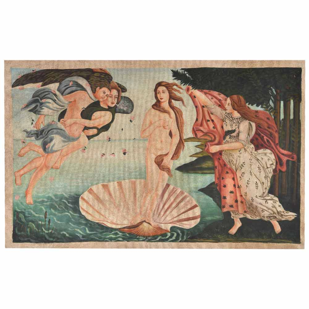 The birth of Venus with figures representing the Zephyr winds 24.5 X 37.5