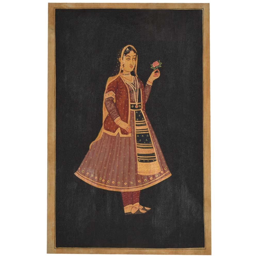 Indian painting of empress Nur Jahan 35 X 23
