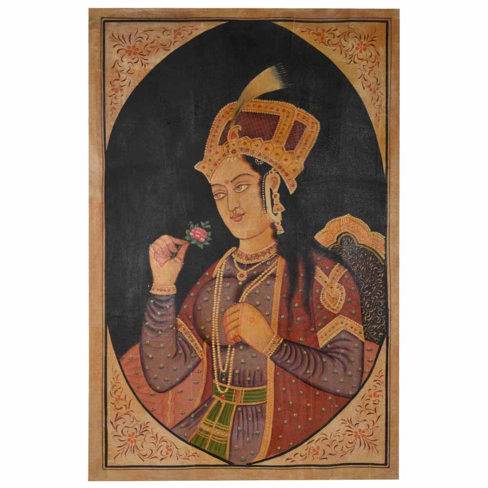 Portrait painting of Mumtaz mahal during Mughul dynasty  35 X 23.5