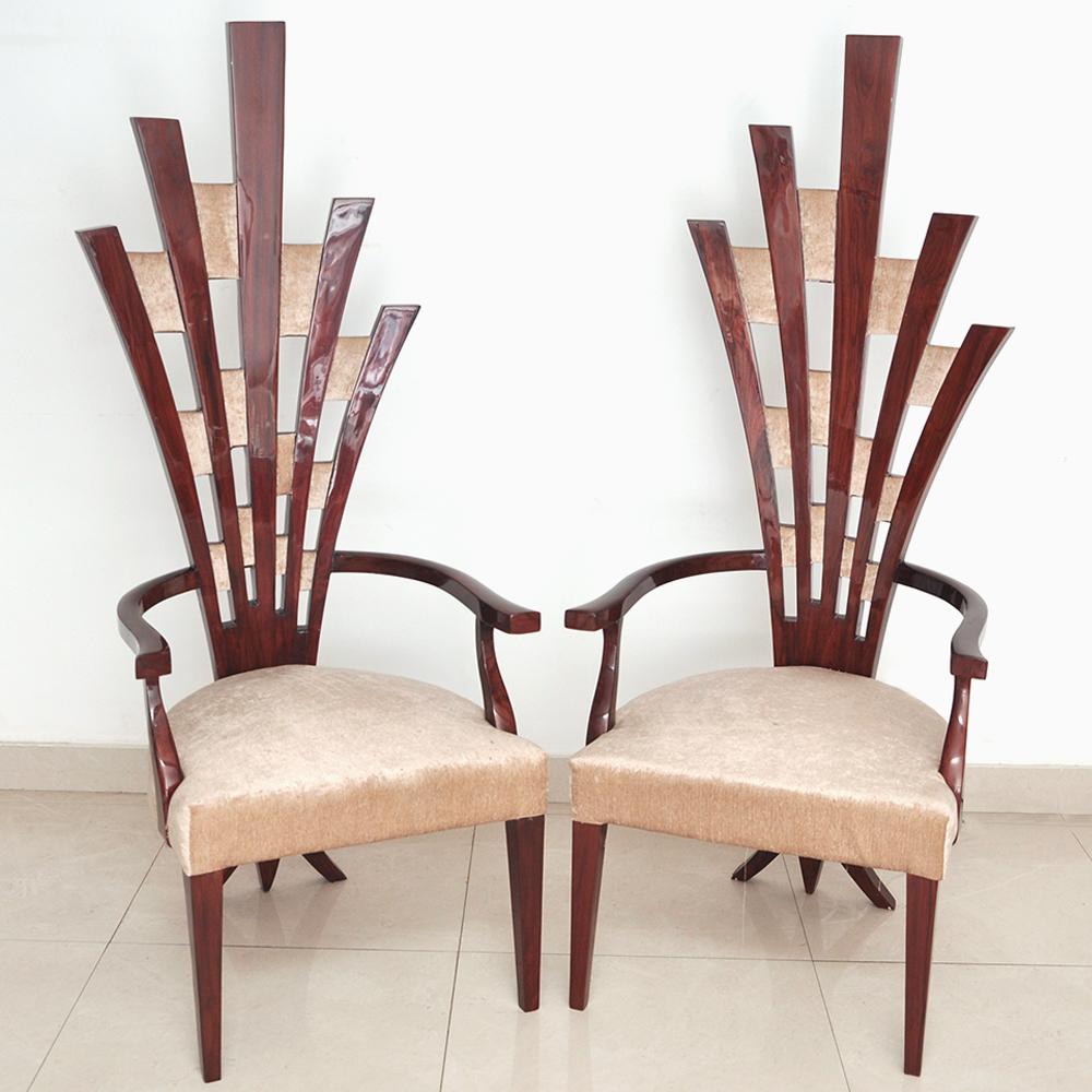 Pair of Designer Living Room Chair-Broken Arrows