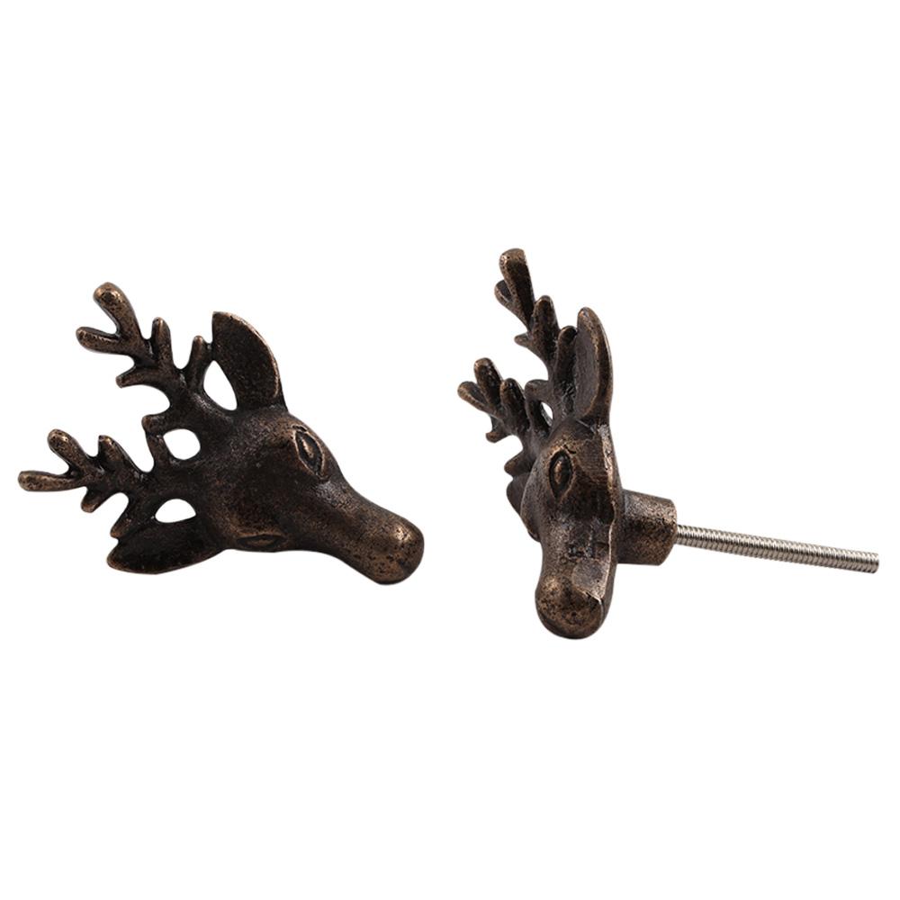 Deer Metal Cabinet Knobs