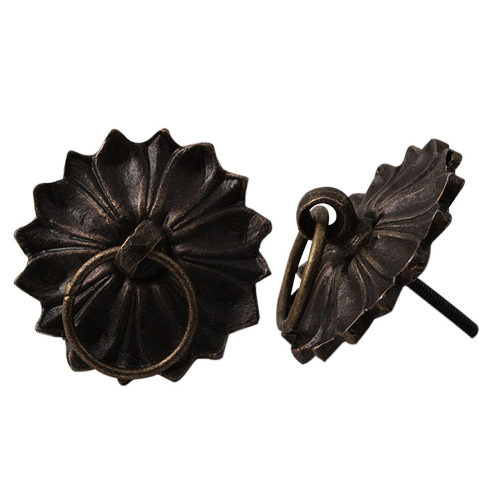 Floral Pattern Metal Cabinet Knobs