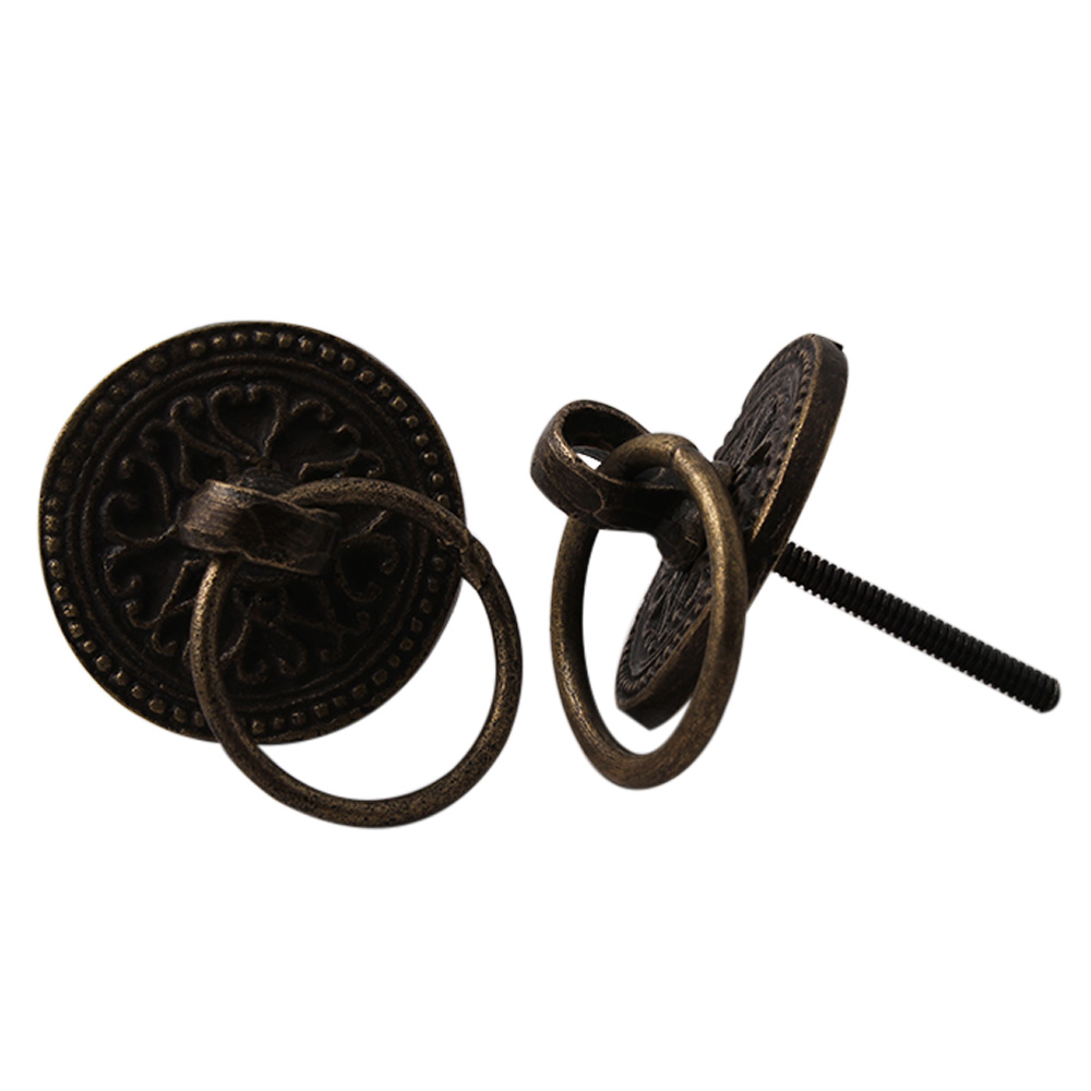 Wheel Floral Metal Drawer Knobs
