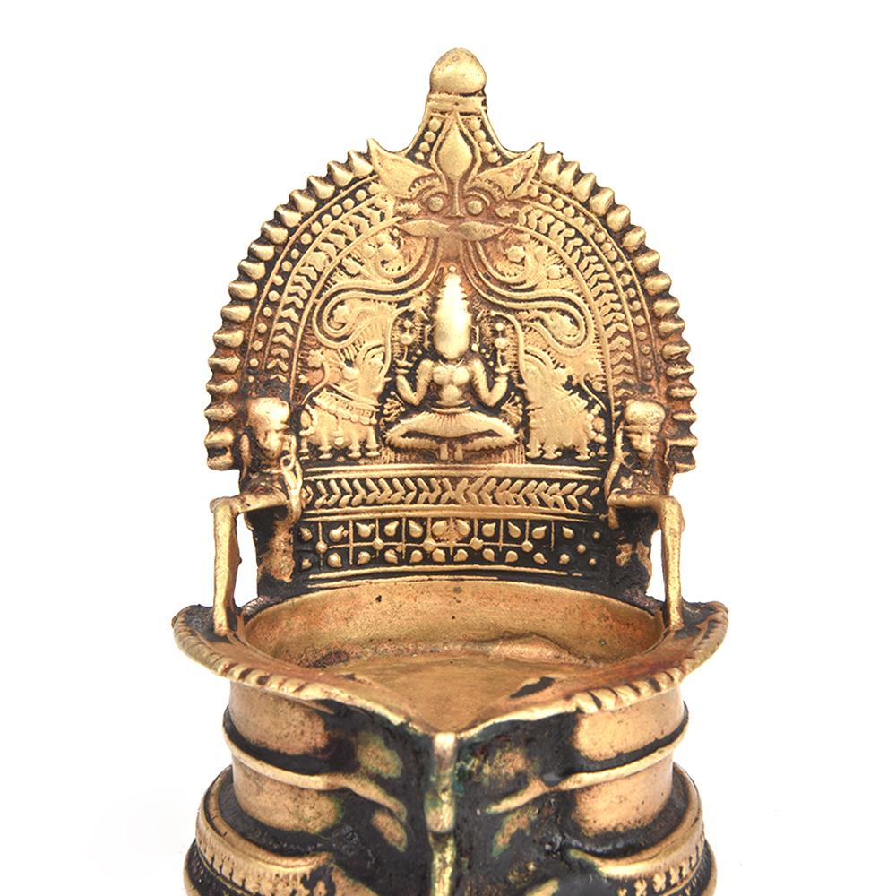 Caste Bronze Lakshmi Oil Lamp