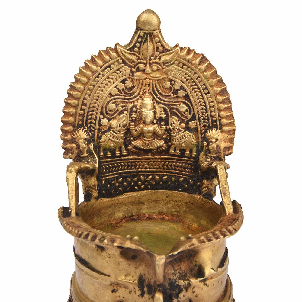 Bronze Depiction of Goddess Lakshmi