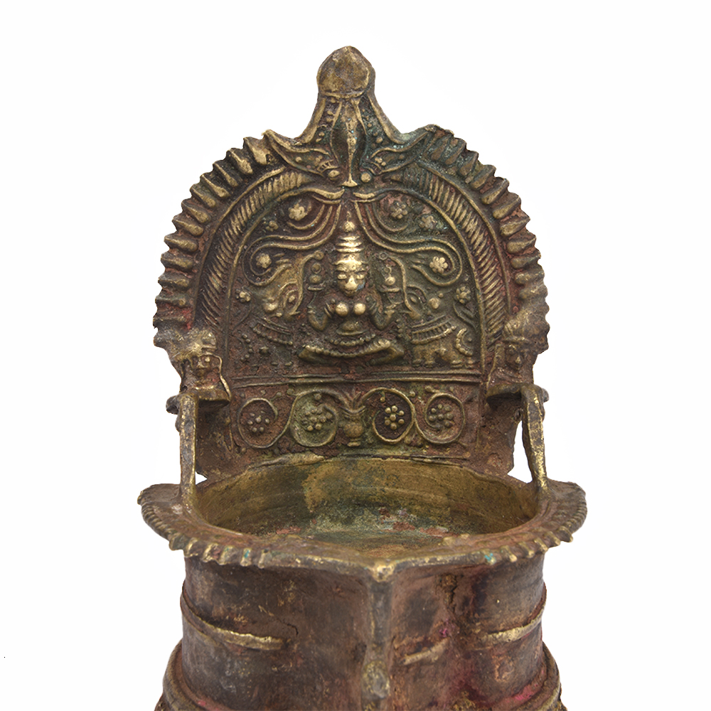 Ornate Bronze Oil Lamp