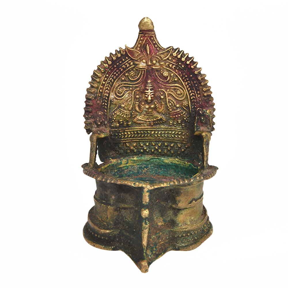 Solid Brass Lakshmi Villakku