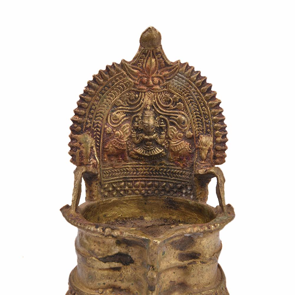 Gaja Lakshmi Bronze Oil Lamp