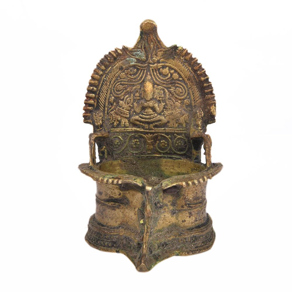 Bronze Oil Lamp of Goddess Laxmi