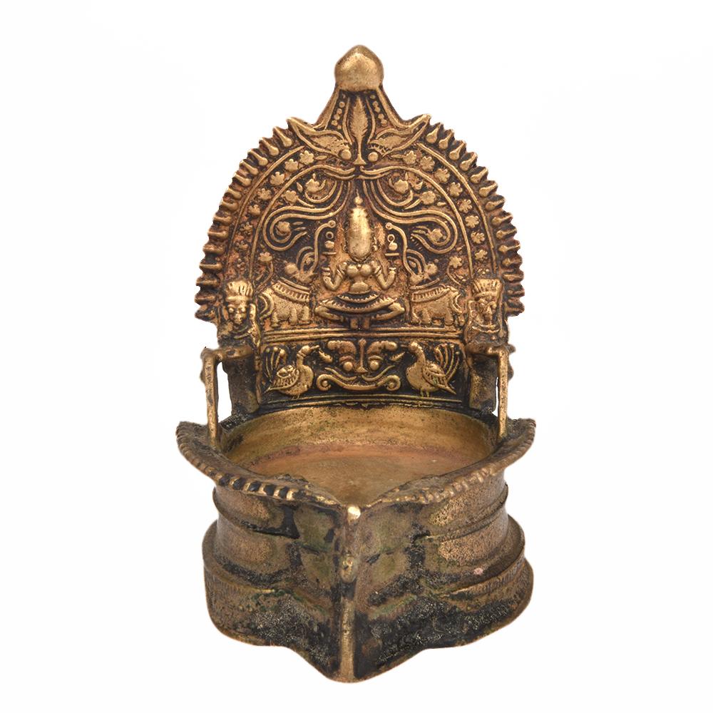 Bronze Gajalakshmi Pooja Diya