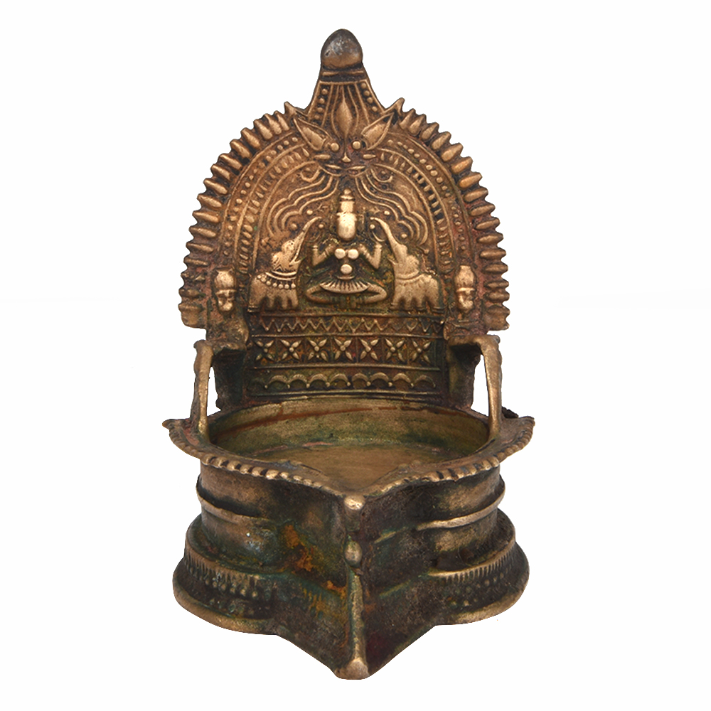 Rare Laxmi Figure Oil Lamp