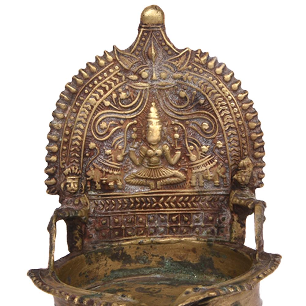Lakshmi Bronze Candle Holders