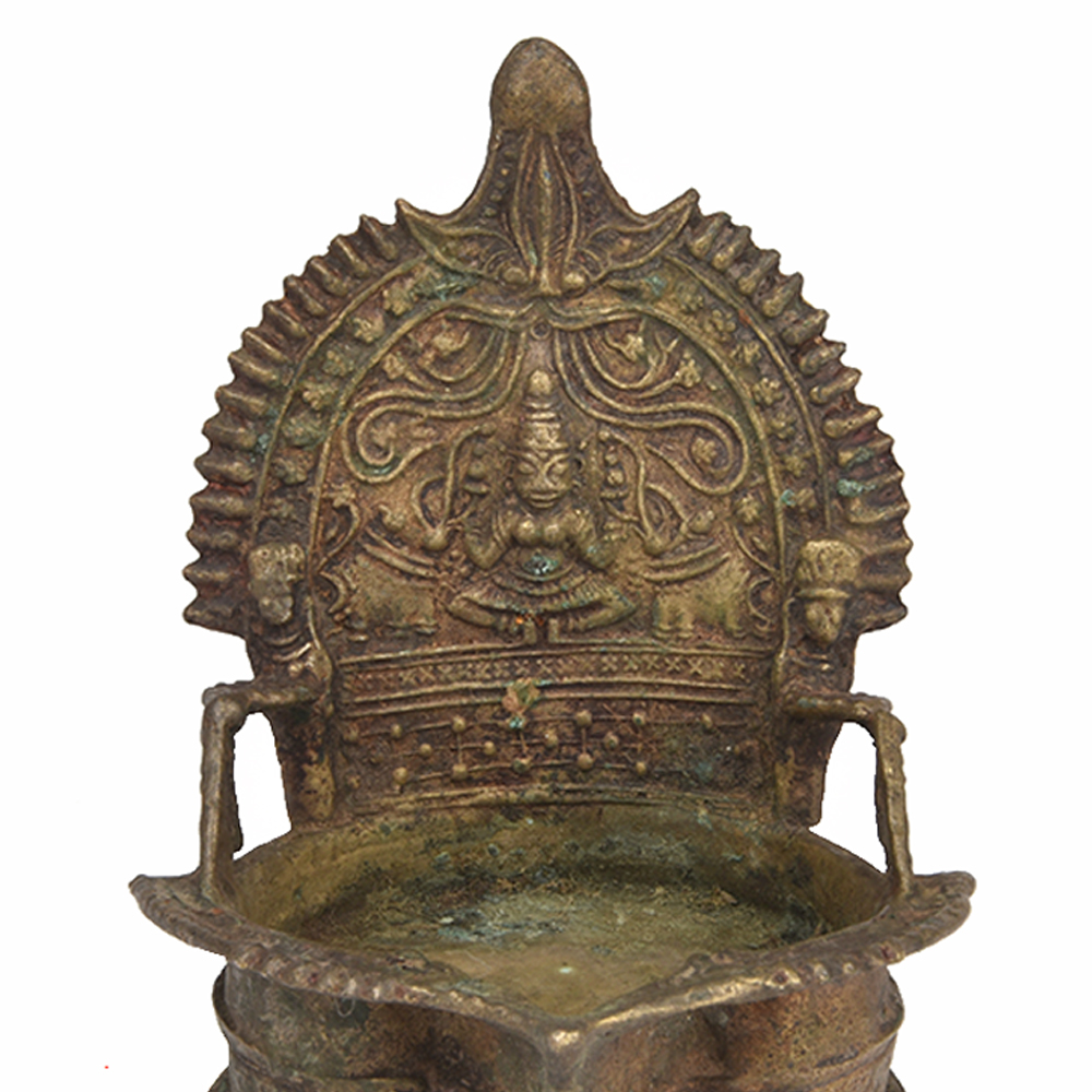 Brass Temple Deepak Lamp