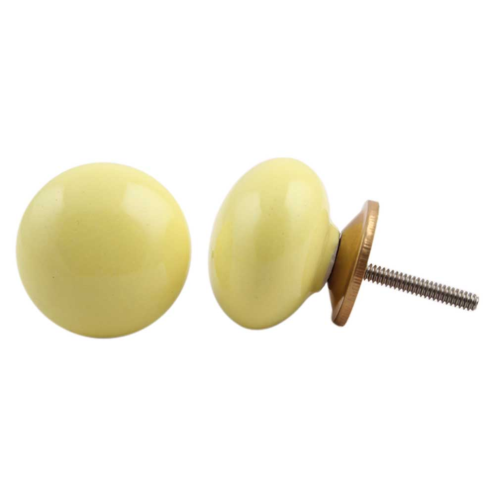 Yellow Solid Knob