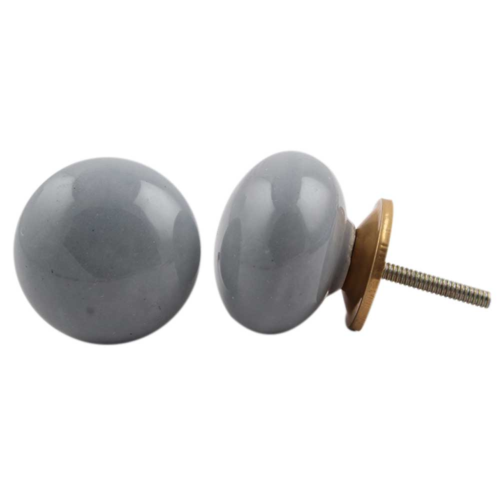 Grey Flat Knob