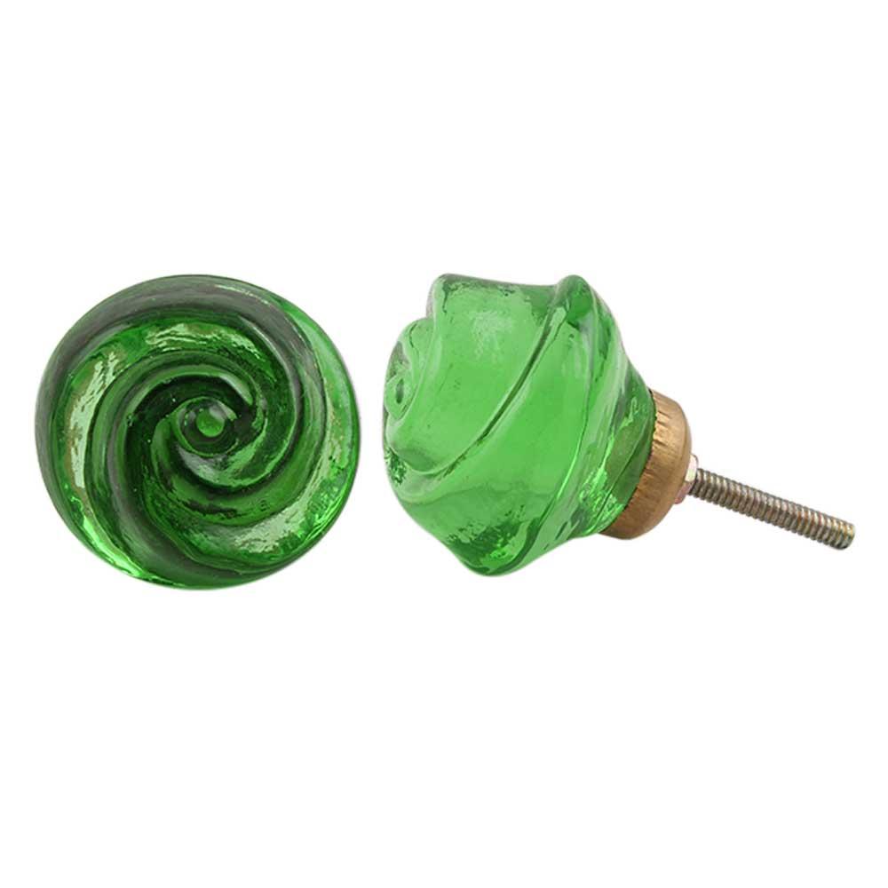 Emerald Rose Knob