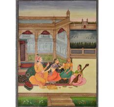Painting of narratives of mughal era 47.5 X 35