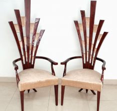 Pair of Designer Living Room Chair-Broken Arrows