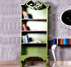 Chartreuse Book Shelf Cabinet