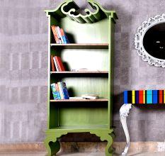 Chartreuse Book Shelf Cabinet